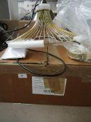   1X   SWOON SOMBRA PENDANT LIGHT   LOOKS UNUSED (NO GUARANTEE)   RRP £119.99  