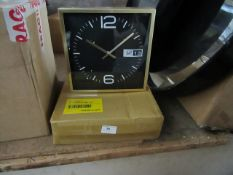   1X   MADE.COM PENNINGTON SQUARE STATION CLOCK  UNCHECKED WITH BOX   RRP CIRCA £29  