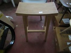   1X   COX AND COX CURVED TOP STOOL   UNCHEKCED   RRP £225  