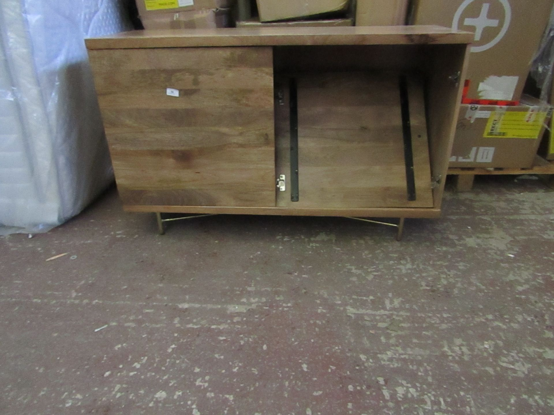| 1X | SWOON HALLE SIDEBOARD | ONE OF THE HINGES IS DAMAGED AND THERE IS A HOLE IN THE HARDBOARD