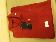 Emporio Armani Polo T/Shirt Bordeaux Colour Size L New With Tags