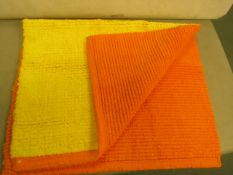 Yellow/Orange Bath Mat Approx 80 X 54 CM New in Packaging