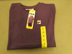 Fila T/Shirt Ladies Gothic Grape Colour Size S New With Tags