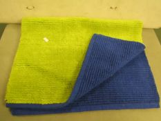 Green/Blue Bath Mat Approx 80 X 54 CM New in Packaging
