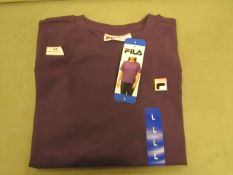 Fila T/Shirt Ladies Gothic Grape Colour Size L New With Tags