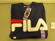 Fila T/Shirt Ladies (With Faux Fur Design on Front )Size X/S New With Tags