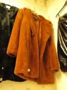 Andrew Marc Faux Fur Coat Tan Colour Size S