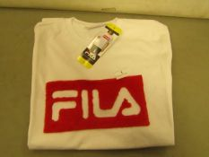 Fila T/Shirt Ladies (With Faux Fur Design on Front )Size S New With Tags