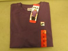 Fila T/Shirt Ladies Gothic Grape Colour Size M New With Tags