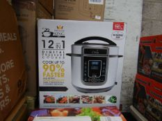   7X   PRESSURE KING PRO 12 IN 1 5LTR   UNCHECKED AND BOXED   NO ONLINE RESALE   RRP £79.99  