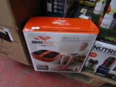   1X   VIBRO LEGS VIBRATION AND LEG MASSAGING SYSTEM   UNCHECKED AND BOXED   NO ONLINE RE-SALE   SKU
