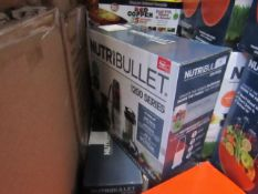   3X   NUTRI BULLET 1200 SERIES   UNCHECKED AND BOXED   NO ONLINE RESALE   RRP £120.00   TOTAL