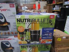   3X   NUTRI BULLET RX   UNCHECKED AND BOXED   NO ONLINE RESALE   SKU -   RRP £119.99   TOTAL LOT