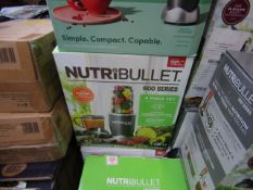   4X   NUTRI BULLET HEALTH BLENDERS   UNCHECKED AND BOXED   NO ONLINE RESALE   SKU   RRP £59.99  