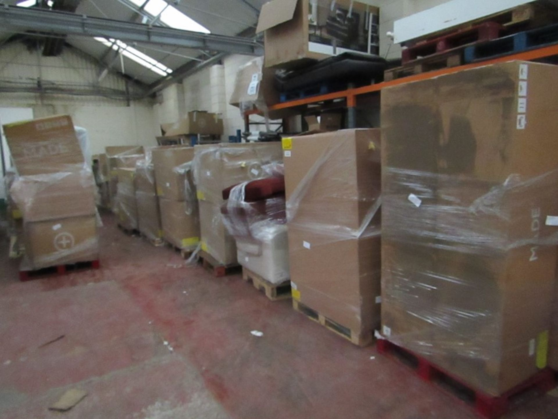   16x   PALLETS OF MADE.COM UNMANIFESTED SOFA PARTS, THESE ARE FROM VARIOUS SOFAS AND DONT APPEAR TO