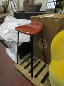 | 1X | MADE.COM LODI BAR STOOL IN TAN AND BLACK| SMALL CHIP IN TH EFINISH ON THE SEAT | RRP £99 |