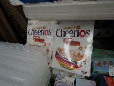 2X 600kg box of Multigrain Cheerios best before 10/2021 damage packaging