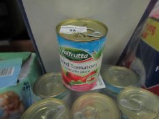 30 X 400g tins of Valfrutta Peeled Tomatos in tomato juice Best before 31/12/2023