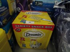 Dreamies variety snack box cat treats mixed pack of 12 X 60g best before 01/03/2022