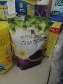 Natures Heart Superfoods CHIA SEEDS 1KG best before 09/2022 new and packaged