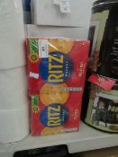 Ritz Backery Savoury Crackers pack of 6 X 165G best before 30/09/2021