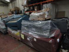   7x   PALLETS OF MADE.COM UNMANIFESTED SOFA PARTS, THESE ARE FROM VARIOUS SOFAS AND DONT APPEAR