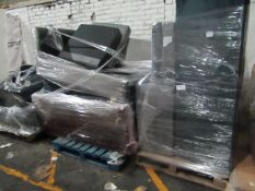  3x   PALLETS OF MADE.COM UNMANIFESTED SOFA PARTS, THESE ARE FROM VARIOUS SOFAS AND DONT APPEAR