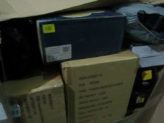   1X   PALLET OF APPROX 15 -20 RAW RETURN ELECTRICAL AND AIR BED ITEMS WHICH TYPICALLY INCLUDE
