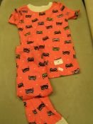1 X Pair of Girls Pyjamas Aged 3 look Unworn No Packaging