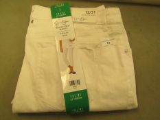 Jessica Simpson Rolled Skinny Crop Jeans Size 12 White New & Packaged