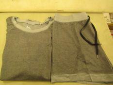 Jezebel 2PC Lounge /Pyjama Set Grey Size M Look Unworn No Packaging