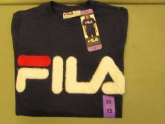Fila T/Shirt ( With Faux Fur Design on Front )Ladies Size X/S New With Tags