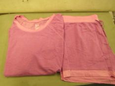 Jezebel 2PC Lounge /Pyjama Set Pink Size X/L Look Unworn ( Not in Original Packaging )