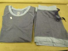 Jezebel 2PC Lounge /Pyjama Set Blue Size L Look Unworn ( Not in Original Packaging )
