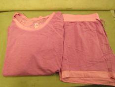 Jezebel 2PC Lounge /Pyjama Set Pink Size L Look Unworn ( Not in Original Packaging )