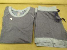 Jezebel 2PC Lounge /Pyjama Set Blue Size M Look Unworn ( Not in Original Packaging )