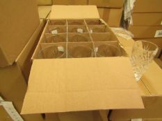 12x Apina Crystaline 320ML Glass Tumblers, New & Boxed