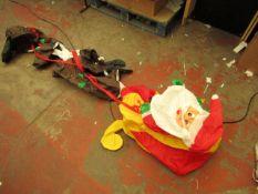 Infatable Santa & Reindeers (no power)