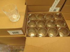 12 x Apina Crystaline 300ML Glass Tumblers, New & Boxed
