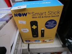 Now TV Smart Stick with HD and voice search, unchecked and boxed.