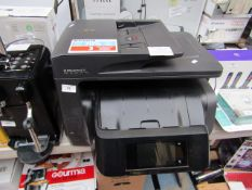 HP OfficeJet Pro 8725 multi-purpose printer, powers on but not tested all functions.