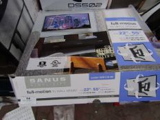 """Sanus full motion TV wall mount 22"""" - 55"""", unchecked and boxed."""