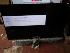 "Hisense 65A7100FTUK 65"" Smart 4K Ultra HD TV, tested working for main function (screen display),"
