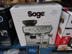 Sage the Barista Express, powers on but not tested all functions and boxed. RRP £549