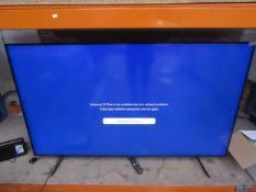 """Samsung QE65Q60T 65"""" HDR 4K QLED TV, tested working for main function (screen display), other"""