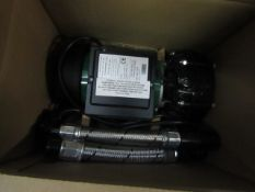 Salamander pumps water pump installation, new and boxed.
