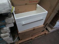 Pearl 600 wall hung basin unit, new and boxed.