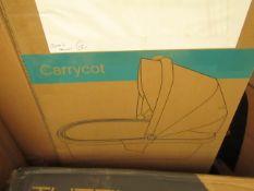 |1x | TUTTI BAMBINI ARLO CARYYCOT CHROME & OATMEAL | UNCHECKED & BOXED | SKU TUT-411215/CH/83-B+ |