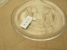 2x Large Clear Glass Plate - Unused & Good Condition.