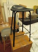   1X   MADE.COM LODI BAR STOOL   BOXED AND UNCHECKED   RRP £99  